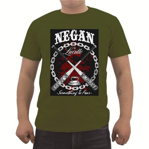 Fashion Summer Men s Cotton T shirt New The Walking Dead T Shirt Casual Short Sleeve 2