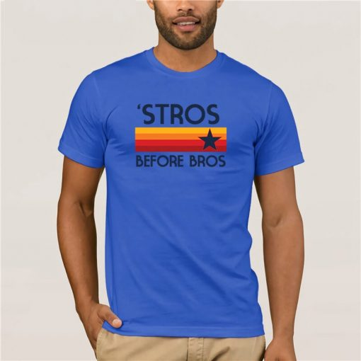 Fashion T Shirt 100 Cotton STROS BEFORE BROS Houston Baseball throwback Astro Summer 100 Cotton Men 1