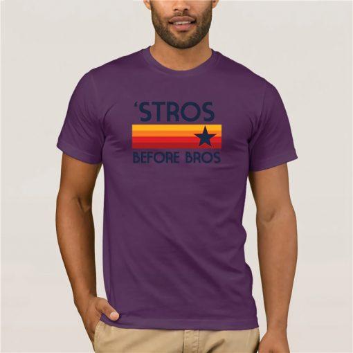 Fashion T Shirt 100 Cotton STROS BEFORE BROS Houston Baseball throwback Astro Summer 100 Cotton Men 5