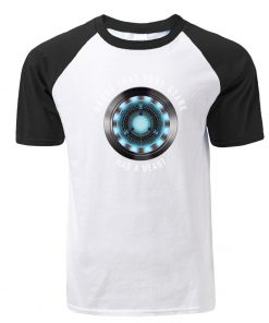 Fashion Tony Stark Tshirt Marvel Iron Man T Shirt Men Avengers Anime Summer Raglan Tshirt Streetwear 1