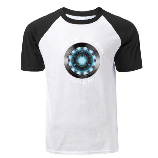 Fashion Tony Stark Tshirt Marvel Iron Man T Shirt Men Avengers Anime Summer Raglan Tshirt Streetwear 1