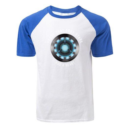 Fashion Tony Stark Tshirt Marvel Iron Man T Shirt Men Avengers Anime Summer Raglan Tshirt Streetwear 2