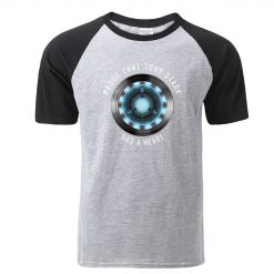 Fashion Tony Stark Tshirt Marvel Iron Man T Shirt Men Avengers Anime Summer Raglan Tshirt Streetwear