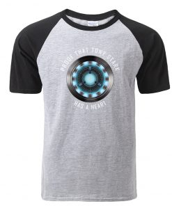 Fashion Tony Stark Tshirt Marvel Iron Man T Shirt Men Avengers Anime Summer Raglan Tshirt Streetwear
