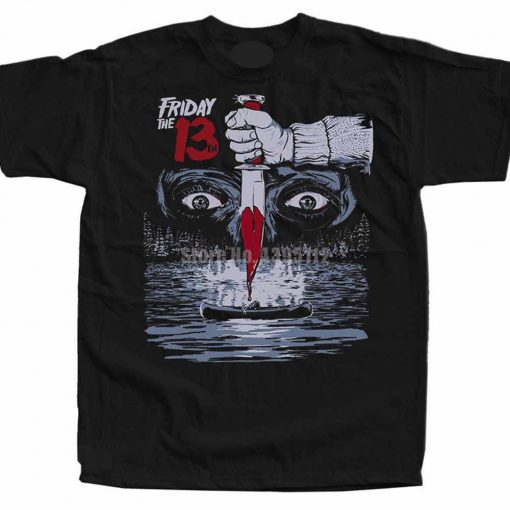 Friday The 13Th Movie Poster Men S Funny Tee Shirt Hip Hop Streetwear Tshirt Homme Humour