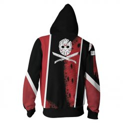 Friday The 13th Hoodies 3D Printed Zipper Up Hoodies Sweatshirt Pullover Coat Jacket 1