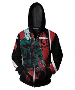 Friday The 13th Hoodies 3D Printed Zipper Up Hoodies Sweatshirt Pullover Coat Jacket
