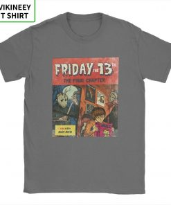 Friday The 13th Jason Voorhees TShirt for Men Horror Movie Halloween Scary Cotton Tee Shirt Short 2