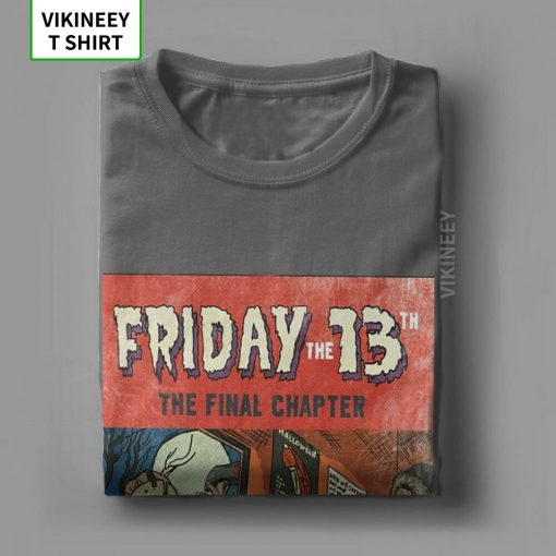 Friday The 13th Jason Voorhees TShirt for Men Horror Movie Halloween Scary Cotton Tee Shirt Short 4