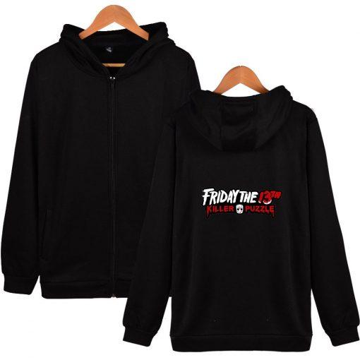 Friday The 13th Zipper Hoodie Sad Jason Voorhees Horror Hoody Camp Crystal Lake Hoodies Fashion Men 2