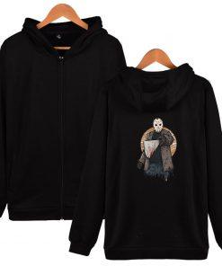 Friday The 13th Zipper Hoodie Sad Jason Voorhees Horror Hoody Camp Crystal Lake Hoodies Fashion Men
