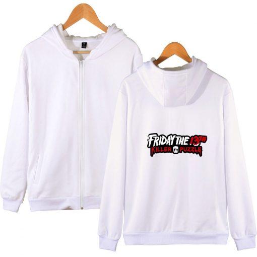 Friday The 13th Zipper Hoodie Sad Jason Voorhees Horror Hoody Camp Crystal Lake Hoodies Fashion Men 3