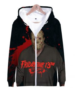 Friday the 13th 3D Print Popular Street Zipper cool Hipster Hooded Sweatshirt Fashion comfortable Casual Street 2