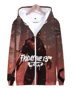 Friday the 13th 3D Print Popular Street Zipper cool Hipster Hooded Sweatshirt Fashion comfortable Casual Street