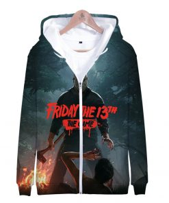 Friday the 13th 3D Print Popular Street Zipper cool Hipster Hooded Sweatshirt Fashion comfortable Casual Street 3