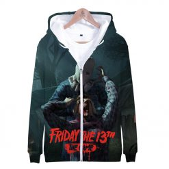 Friday the 13th 3D Print Popular Street Zipper cool Hipster Hooded Sweatshirt Fashion comfortable Casual Street 4