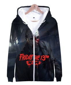 Friday the 13th 3D Print Popular Street Zipper cool Hipster Hooded Sweatshirt Fashion comfortable Casual Street 5