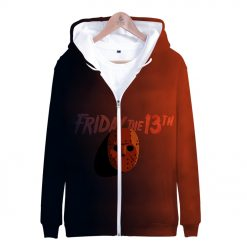 Friday the 13th 3D Printed Zipper Hoodies Women Men Fashion Long Sleeve Hooded Sweatshirt Hot Sale