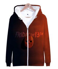 Friday the 13th 3D Printed Zipper Hoodies Women Men Fashion Long Sleeve Hooded Sweatshirt Hot Sale
