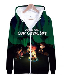 Friday the 13th 3D Printed Zipper Hoodies Women Men Fashion Long Sleeve Hooded Sweatshirt Hot Sale 3