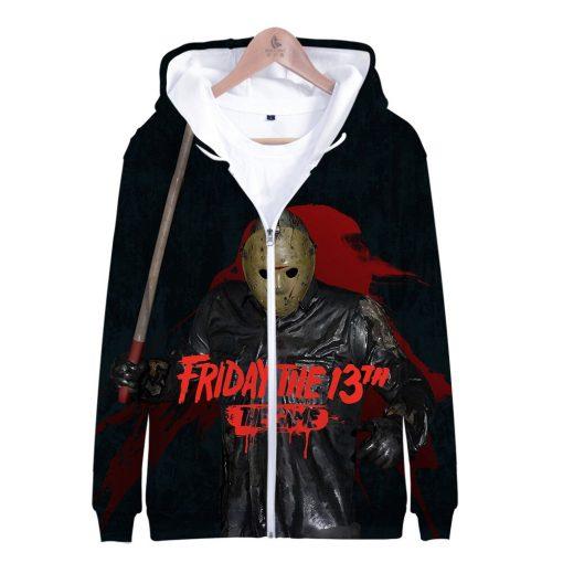 Friday the 13th 3D Printed Zipper Hoodies Women Men Fashion Long Sleeve Hooded Sweatshirt Hot Sale 5