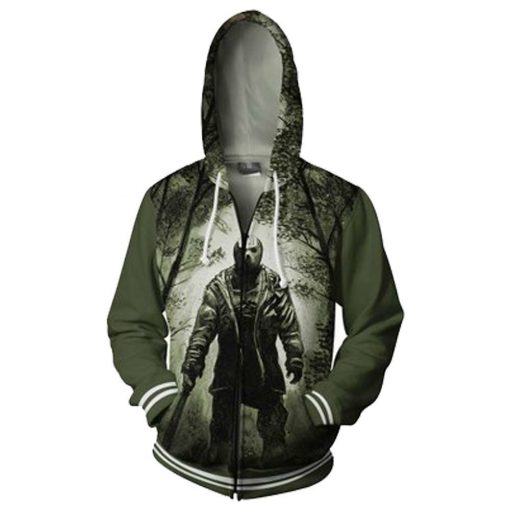 Friday the 13th Hoodie Cosplay Zipper Up Hoody Hoodie Adult Man Jacket Coat Jacket