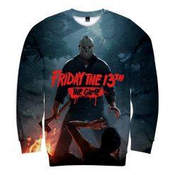 Friday the 13th The Game 3D Print streetswear Anime mens women Harajuku Hoodies Sweatshirt Hawaii sweatshirt 2