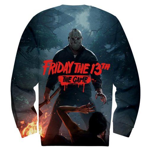 Friday the 13th The Game 3D Print streetswear Anime mens women Harajuku Hoodies Sweatshirt Hawaii sweatshirt 3