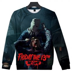 Friday the 13th The Game 3D Print streetswear Anime mens women Harajuku Hoodies Sweatshirt Hawaii sweatshirt 4