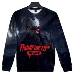Friday the 13th The Game 3D Print streetswear Anime mens women Harajuku Hoodies Sweatshirt Hawaii sweatshirt 5