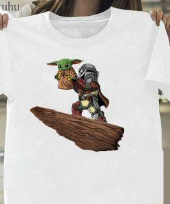 Funny Baby Yoda Mandalorian The Child In Pocket Funny T Shirt Men Women Summer New White 2