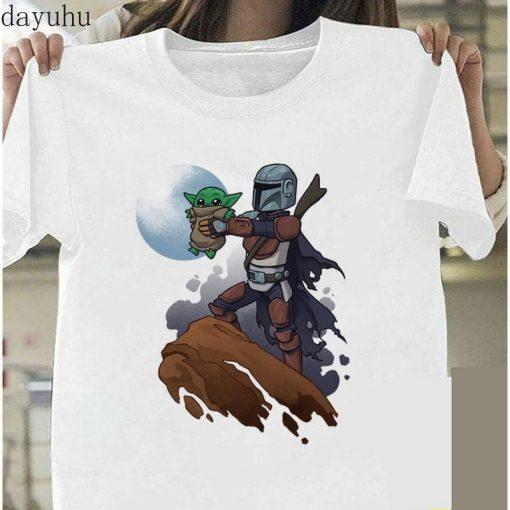 Funny Baby Yoda Mandalorian The Child In Pocket Funny T Shirt Men Women Summer New White 5