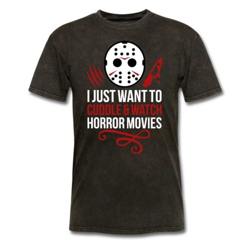 Funny Halloween Friday The 13Th Horror Movie Unisex Tops Tee T Shirt Plus Sizes T Shirt