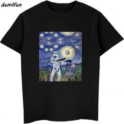 Funny Star Wars Star The Traitor Stormtrooper The Scream Parody T shirt Men Cotton Short Sleeve