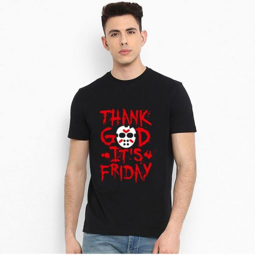 Funny Thank God It s Friday The 13th Tgif Halloween tshirt big size s 85xL Humor 1