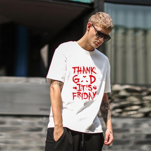 Funny Thank God It s Friday The 13th Tgif Halloween tshirt big size s 85xL Humor 3