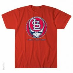 GRATEFUL DEAD ST LOUIS CARDINALS STEAL YOUR BASE TSHIRT S M L XL XXL 3XL Garcia