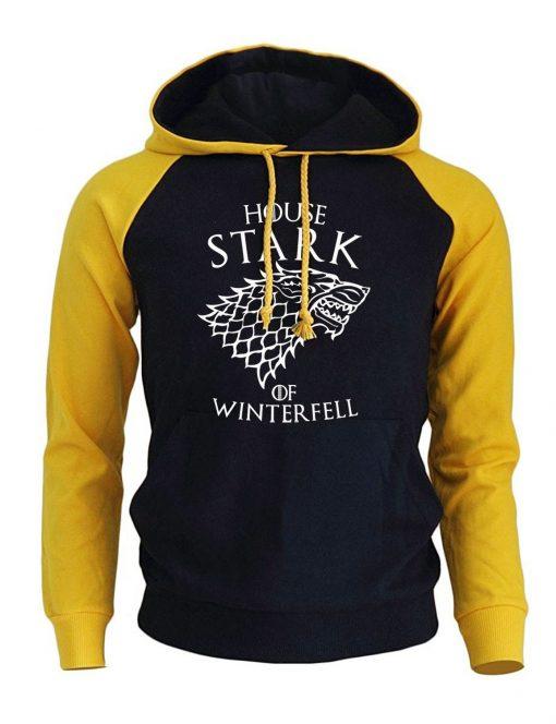 Game Of Thrones Casual Men s Sweatshirt 2018 Spring New Hoodies HOUSE STARK OF WINTER FELL 1