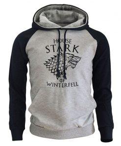 Game Of Thrones Casual Men s Sweatshirt 2018 Spring New Hoodies HOUSE STARK OF WINTER FELL