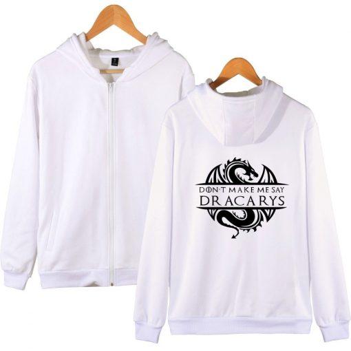 Game Of Thrones Daenerys Dracarys Hoodie Hooded Jacket Men Women Kid Clothes Zipper Coat Geek Clothing 1
