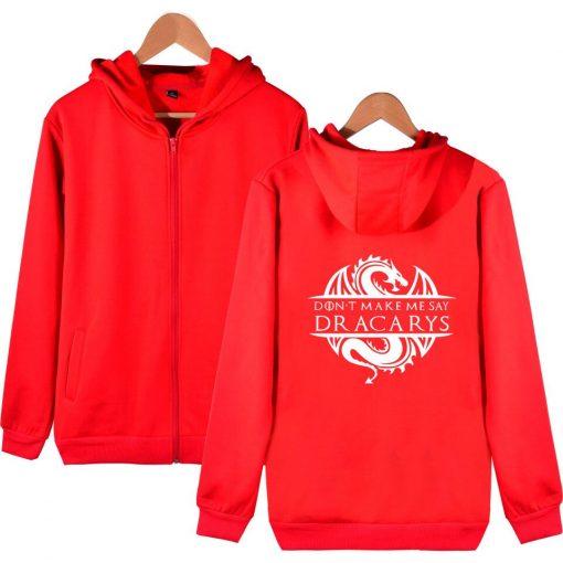 Game Of Thrones Daenerys Dracarys Hoodie Hooded Jacket Men Women Kid Clothes Zipper Coat Geek Clothing 2