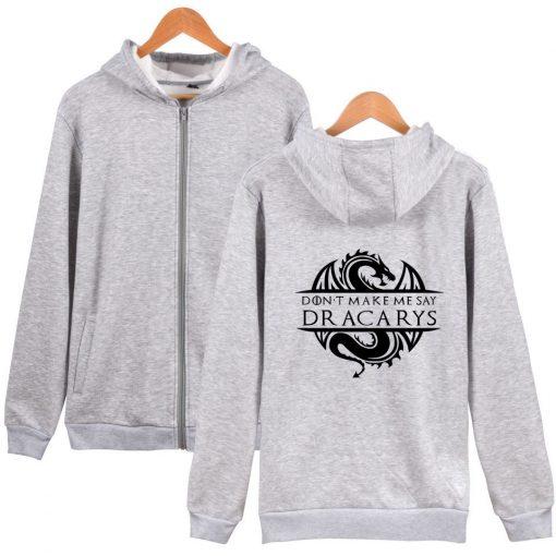 Game Of Thrones Daenerys Dracarys Hoodie Hooded Jacket Men Women Kid Clothes Zipper Coat Geek Clothing 3
