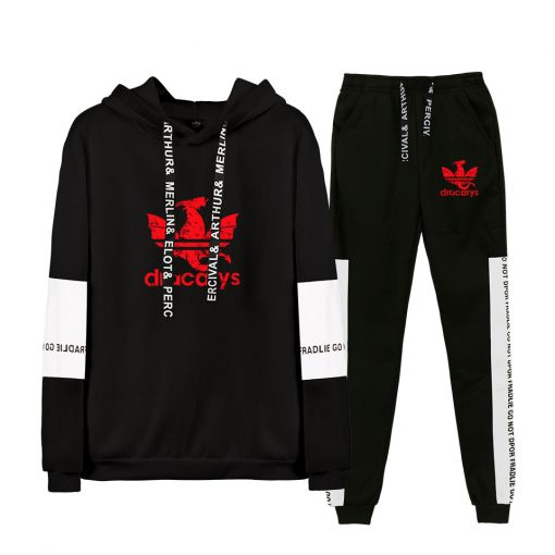 Game Of Thrones Dracarys Cool Logo Sweatshirt Suits 2019 New Hip Hop Hoodies Sweatshirts And Sweatpants 1