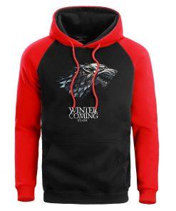 Game Of Thrones Hoodie Men Crewneck Hoodies Sweatshirts Winter Coming Fleece Warm White Mens Pullover Streetwear 1