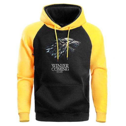 Game Of Thrones Hoodie Men Crewneck Hoodies Sweatshirts Winter Coming Fleece Warm White Mens Pullover Streetwear 2