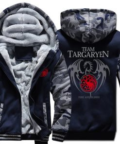Game Of Thrones Hoodie Men Dragon Dracarys Printing Jacket Winter Fleece Warm Sweatshirt Zipper Pullover Harajuku 1