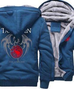 Game Of Thrones Hoodie Men Dragon Dracarys Printing Jacket Winter Fleece Warm Sweatshirt Zipper Pullover Harajuku 3