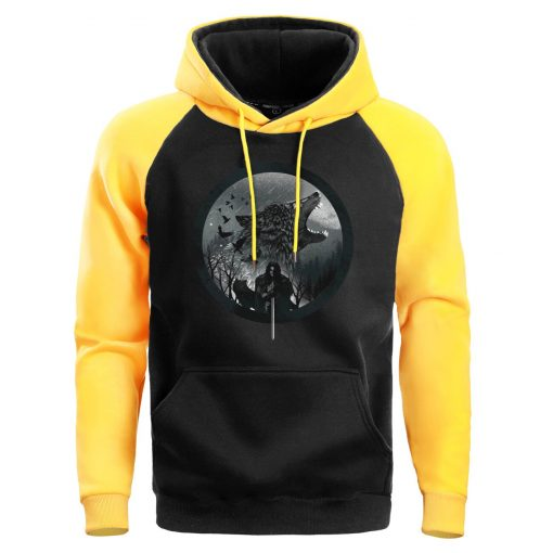 Game Of Thrones Hoodie Men Sweatshirt Male House Stark Wolf Winter Hoodies Sweatshirts Mens Pullover Fleece 1