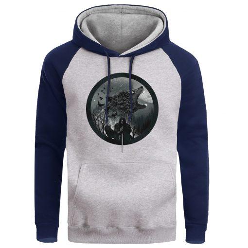 Game Of Thrones Hoodie Men Sweatshirt Male House Stark Wolf Winter Hoodies Sweatshirts Mens Pullover Fleece 2
