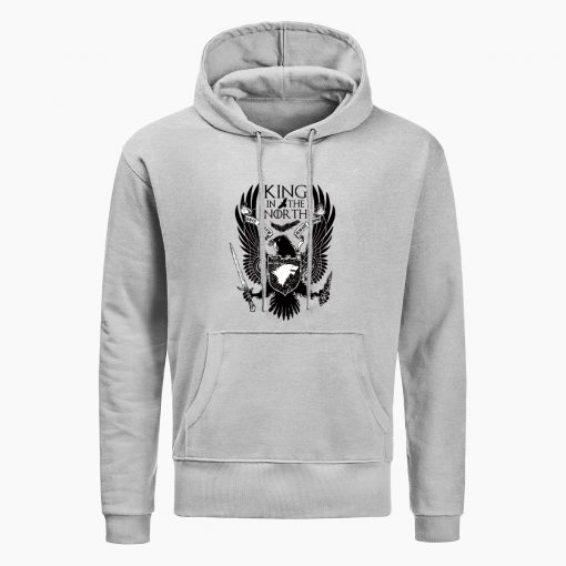 Game Of Thrones Hoodies House Stark King In The North Print Hoodie Sweatshirt Men Hip Hop 1